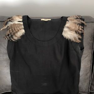 Statement top with fur shoulders